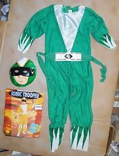 New in Package Rubies Green Sonic Trooper Jumpsuit Belt Mask Large Child
