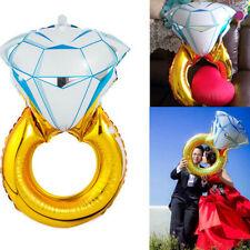 Diamond Ring Aluminum Foil Helium Balloon Engagement Wedding Party Decoration