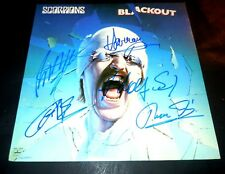 SCORPIONS~Signed~BLACKOUT~Record~Album~Klaus~Rudolph~Francis~Herman~Matthias
