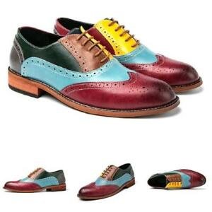 Mens Dress Formal Business Shoes Brogue Carved Wing Tip Work Office Party Chic L