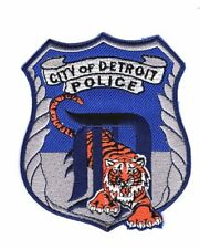 POLICE PATCH CITY OF DETROIT MICHIGAN DETROIT TIGERS BASEBALL