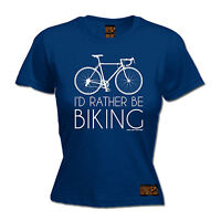 I'd Rather Be Biking WOMENS RLTW T-SHIRT tee cycle cycling bicycle birthday gift