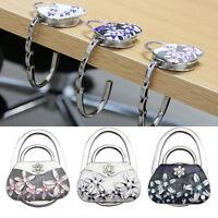 Useful Alloy Flower Handbag Purse Bag Table Hanger Hook Umbrella Hanging Holder