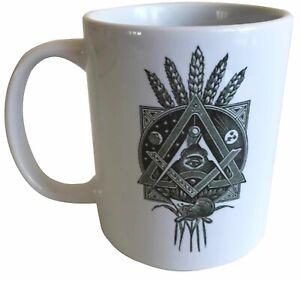 Masonic Symbolism- Masonic Ceramic Mug - Ideal Raffle Prize