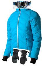 $530 Gerbing Womens XS Blue Heated Jacket Ladies Coat Scott Ski Goggles Gloves