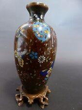 Vase Schmetterling Cloisonne Japan China Blumen Vintage Korea Asiatika Top