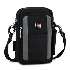 Great Mobile Phone case Outdoor Messenger Shoulder bag+fanny pack waist bag gray