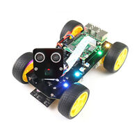 Freenove 4WD Smart Car Kit for Raspberry Pi 4 B 3 B+ Robot Servo Camera App