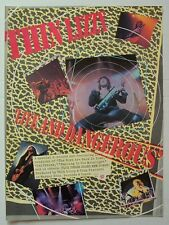 Thin Lizzy 1978 Poster Ad Live And Dangerous plus three new songs