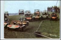 DDR Postkarte Buggy Rennen Feld Wald Wiese Sportart AK