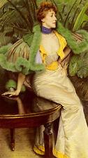 Art Oil painting Joseph Tissot - The Princesse De Broglie Young lady in summer