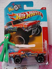 2012 Hot Wheels '71 BUICK RIVIERA #216∞New RED ∞thrill PREHISTORIC∞Scan