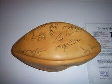 WELLINGTON MARA,JIM TAYLOR,BOB GRIESE,LAWRENCE TAYLOR PSA/DNA SIGNED FOOTBALL