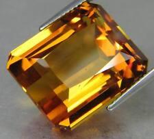 LARGE 12x10mm OCTAGON-FACET NATURAL BRAZILIAN GOLDEN CITRINE GEMSTONE (APP £119)