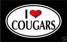 "5.75"" I LOVE COUGARS vinyl decal sticker.. MILF hot mom"