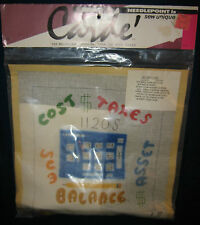 """Carde Needlepoint Kit ~ """"Accountant"""" Hand Painted ~ VINTAGE 1970s ~ NEW"""