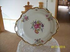 Rosenthal Pompadour Vintage Double Handle Cake Plate Continental Design German
