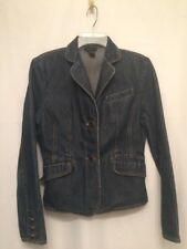 The Limited Medium Jean Denim 3 Pocket 2 Button Jacket Blazer 100% Cotton