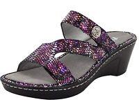 Alegria Womens LOTI Leather Wedge Sandals FUNTASTIC Size 7 - 7.5 M (37) NIB