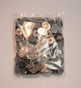 Alumünzen, 23,25x1,5mm, gelocht, 500 Stück, Wertmarke, Einkaufswagenchip