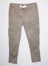 "SIMONA BARBIERI TWIN SET Brand Khaki Capri Cargo Pants Size 28"" BNWT #SY65"