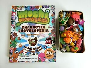 Moshi Monsters Toy Lot Including Character Encyclopedia Book and 68 Figures