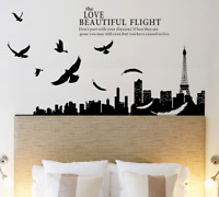 Eiffel Tower Vinyl Home Room Decor Wall Decal Sticker Bedroom Removable Mural