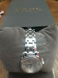 Bulova Women's Silver Dial Stainless Steel Bracelet Watch 96L005