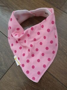 NEW funky giraffe girls neckerchief bandana dribble bib pink spotty spots