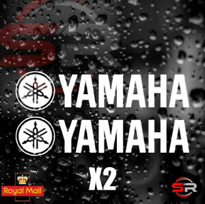 2x YAMAHA Stickers Tank Fairing Panel Decals Graphics R6 R1 YZF 140mm x 30mm 🔥
