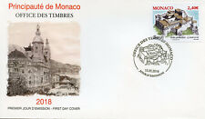 Monaco 2018 FDC Ancient Grimaldi Strongholds Bardi 1v Cover Architecture Stamps