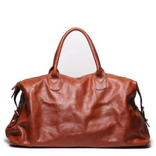 Genuine Cow Leather Men Travel Totes Duffel Bag luggage Weekend Large Crossbody