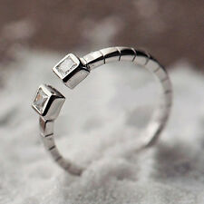 925 Sterling Silber RING - MIDI RING Knuckle Ring Strass  Ø15,7mm