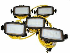 CEP 91135 --50' of High Lumen Portable LED String Lights (5 fixtures) w/brackets