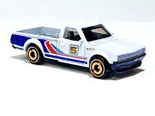 HOT WHEELS Hot Trucks DATSUN 620 PICK UP #5 White 1/64 Scale Diecast