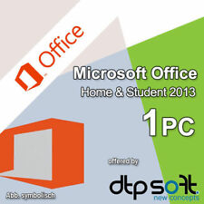 Microsoft Office Home and Student 1 PC 2013 PKC Medialess Multilingual MS DE EU