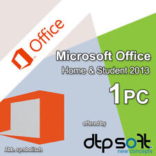 Microsoft Office Home and Student 1 PC 2013 PKC Medialess Multilingual MS