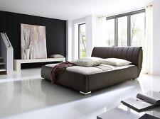Polsterbett Bett  -WIEN - 180x200cm inkl. Bettkasten+Lattenroste Braun