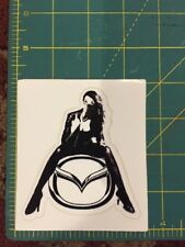 Mazda Woman Decal Sticker