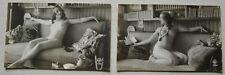 2 Cartes Postales Erotique Clichés Ancien Année 1920 N° 4043