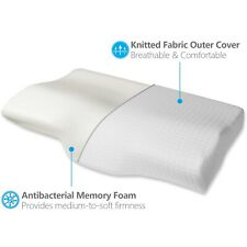 Memory Foam Bed Pillow, Orthopedic, Hypoallergenic, Back & Side Sleeper Pillow