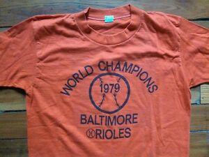 Vtg 1979 Baltimore Orioles Baseball World Champions PRINT ERROR T Shirt L