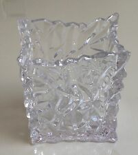 Rosenthal Studio Clear Crystal Glass Bag Vase