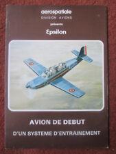 5/79 DEPLIANT PUBLICITAIRE AVION AEROSPATIALE EPSILON MILITARY TRAINER AIRCRAFT