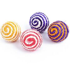 5pcs/lot Pet Cat Toy Sisal Rope Weave Ball Kitten Teaser Playing Chew Toys