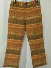 Arden B. Women's Pants Orange Multi Color Textured Casual Pants Size 2