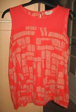 Size 22 NEXT ladies top in orange/red