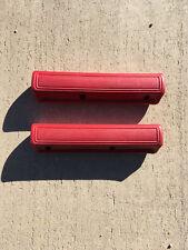 MOPAR METALLIC RED (520) B C Body Chrysler Dodge Plymouth 13 Inch Arm Rest Pads