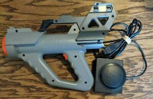 Sega Menacer Light Gun & Receiver Adapter Missing Stock Piece Good Condition !