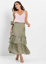 Gypsy Skirt Long Length Maxi Skirt Size 12 Khaki Green New